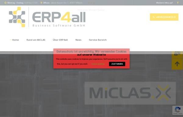 Vorschau von www.erp4all.com, ERP4all Business Software GmbH