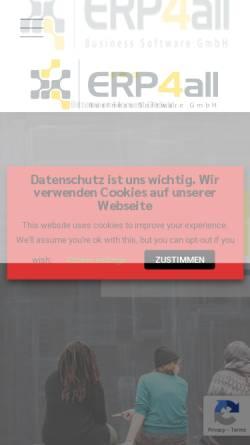 Vorschau der mobilen Webseite www.erp4all.com, ERP4all Business Software GmbH