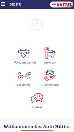 Vorschau der mobilen Webseite www.autohuettel.at, Auto Hüttel KFZ-Handel