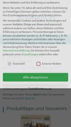 Vorschau der mobilen Webseite schwerin-news.de, Schwerin-News