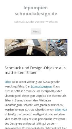 Vorschau der mobilen Webseite www.lepompier-schmuckdesign.de, lepompier-schmuckdesign