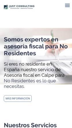 Vorschau der mobilen Webseite www.migueljust.com, Miguel Just