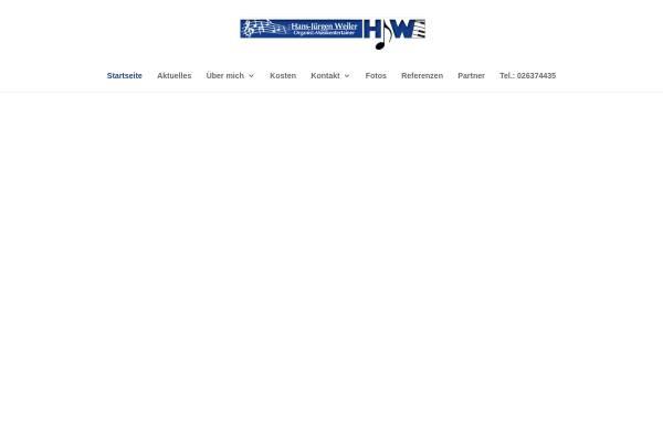 Vorschau von www.hjw-livemusik.de, Alleinunterhalter Hans-Jürgen Weiler - Musikentertainer