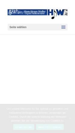 Vorschau der mobilen Webseite www.hjw-livemusik.de, Alleinunterhalter Hans-Jürgen Weiler - Musikentertainer