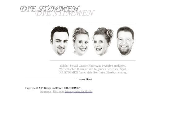 Vorschau von www.die-stimmen.de, Die Stimmen - Piano und Gesang