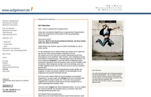 Vorschau von www.aufgehoert.de, aufgehoert.de - NLP in München