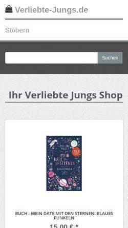 Vorschau der mobilen Webseite verliebte-jungs.de, Verliebte Jungs