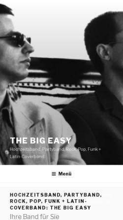 Vorschau der mobilen Webseite www.thebigeasy-band.de, The Big Easy