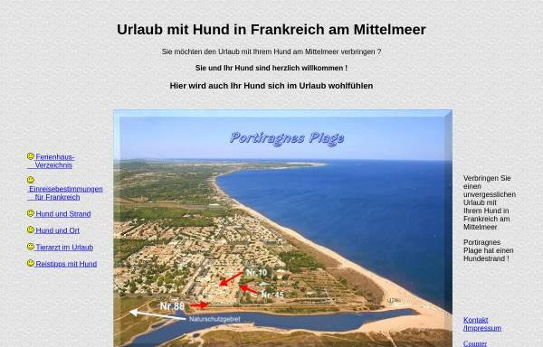 Vorschau von www.urlaub-hund-ferien.de, Urlaub mit Hund am Mittelmeer