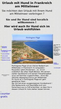 Vorschau der mobilen Webseite www.urlaub-hund-ferien.de, Urlaub mit Hund am Mittelmeer