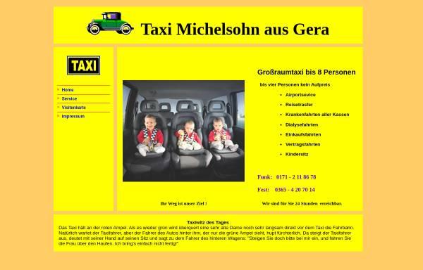Vorschau von www.taxigera.de, Taxi Michelsohn aus Gera