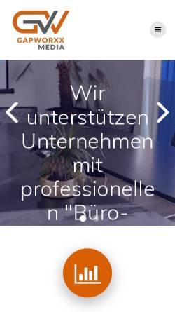 Vorschau der mobilen Webseite www.gap-worxx.de, Gap-worxx Internetagentur