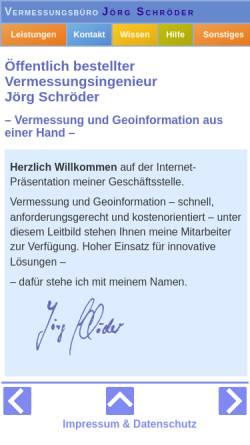 Vorschau der mobilen Webseite www.vermessung-wolf.de, Vermessungsbüro M.Wolf - J.Schröder, ÖbVI