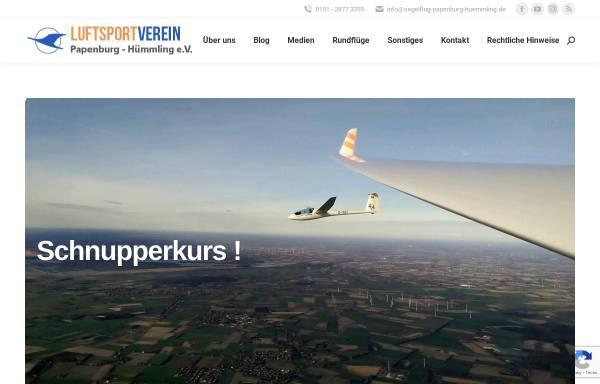 Vorschau von www.segelflug-papenburg.de, Luftsportverein Papenburg e.V. - Fliegen lernen