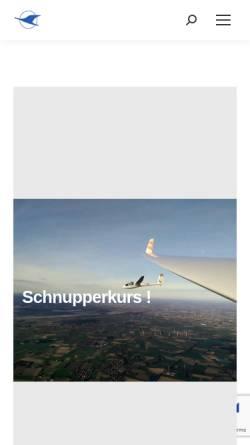 Vorschau der mobilen Webseite www.segelflug-papenburg.de, Luftsportverein Papenburg e.V. - Fliegen lernen