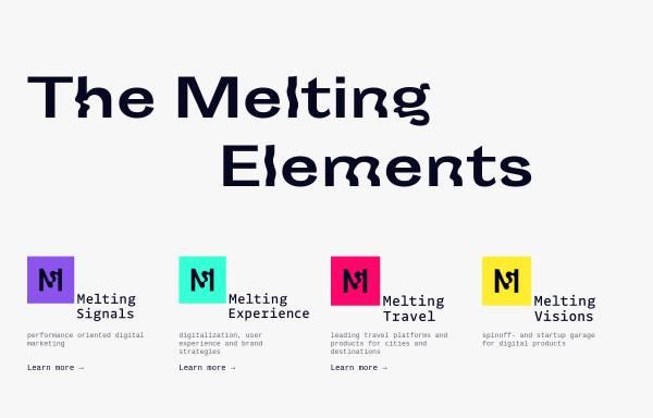 Vorschau von www.meltingelements.com, melting elements - Agentur für digitale Kommunikation