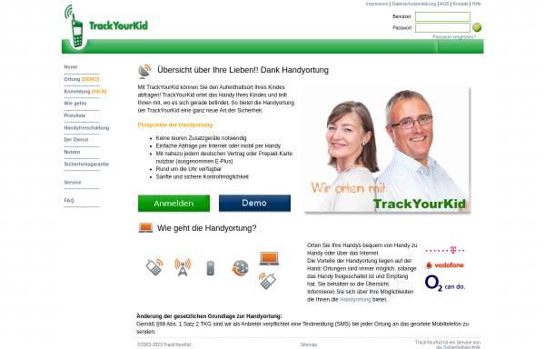 Vorschau von www.trackyourkid.de, trackyourkid.de