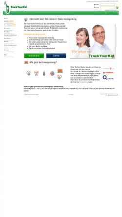 Vorschau der mobilen Webseite www.trackyourkid.de, trackyourkid.de