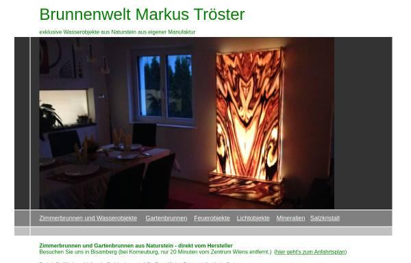 Vorschau von www.troester.at, troester.at - Zimmerbrunnen aus Naturstein