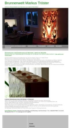 Vorschau der mobilen Webseite www.troester.at, troester.at - Zimmerbrunnen aus Naturstein