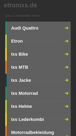 Vorschau der mobilen Webseite www.etronixs.de, etroniXs