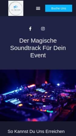 Vorschau der mobilen Webseite www.pvdmusic.de, P.V.D. Music & Events