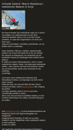 Vorschau der mobilen Webseite www.schlichtholz.de, Wandmalerei Schlichtholz