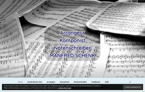 Vorschau von www.manfredschenk-musik.de, Manfred Schenk - Arrangeur, Komponist