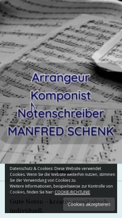 Vorschau der mobilen Webseite www.manfredschenk-musik.de, Manfred Schenk - Arrangeur, Komponist