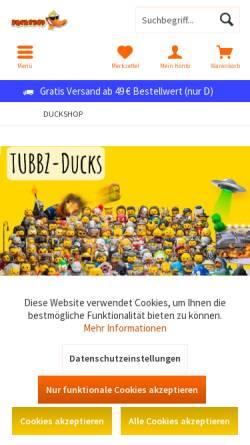 Vorschau der mobilen Webseite www.duckshop.de, duckshop.de