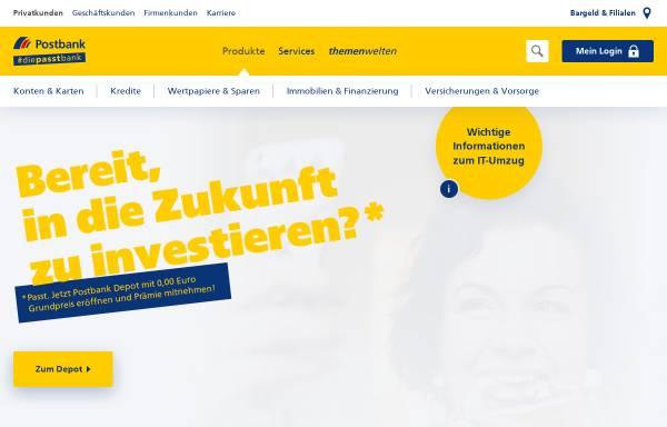 Vorschau von www.postbank.de, Deutsche Postbank