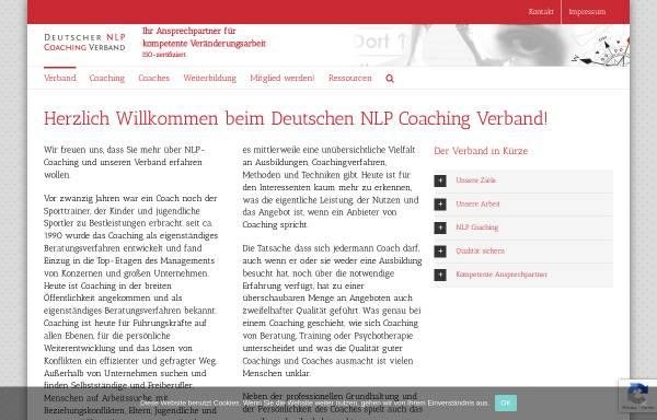Vorschau von www.deutscher-nlp-coaching-verband.de, Deutscher NLP Coaching Verband e.V.