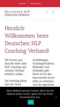 Vorschau der mobilen Webseite www.deutscher-nlp-coaching-verband.de, Deutscher NLP Coaching Verband e.V.