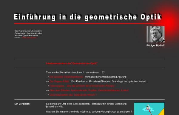 Vorschau von www.geometrische-optik.de, Geometrische Optik