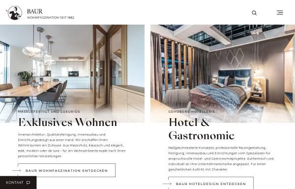 Vorschau von www.baur-wohnfaszination.de, Exklusiver Innenausbau im Landhausstil