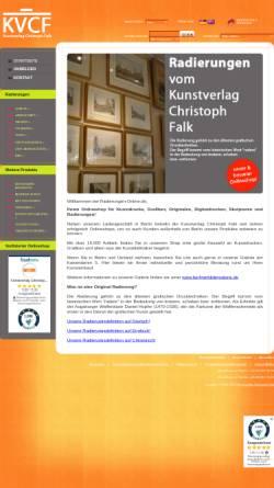 Vorschau der mobilen Webseite www.radierungen-online.de, Kunstverlag Christoph Falk - Radierungen