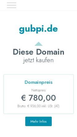 Vorschau der mobilen Webseite www.gubpi.de, GUBPI – Büro für Gutachten und Umweltbildung