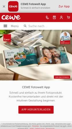 Vorschau der mobilen Webseite www.cewe-fotobuch.de, Cewe Fotobuch: Eigene Fotos als echtes Buch