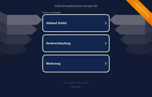 Vorschau von www.industrieauktionen-europe.de, Industrieversteigerungen