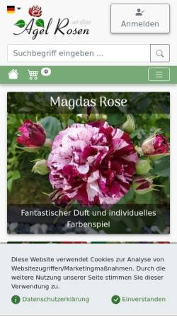 Vorschau der mobilen Webseite www.agel-rosen.de, Agel Rosen GmbH - Onlineshop