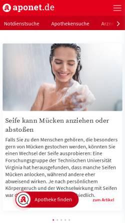 Vorschau der mobilen Webseite www.aponet.de, Gesundheitsportal / Apotheke