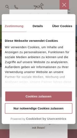 Vorschau der mobilen Webseite www.auhof.com, Hotel Auhof - Wellness Salzburger Land