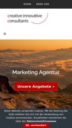 Vorschau der mobilen Webseite www.ciconsultants.de, ciconsultants.de - Unternehmensberatung für Marketing im Raum Hamburg