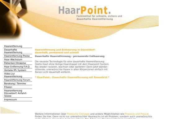 Vorschau von www.haarpoint.com, haarpoint.com
