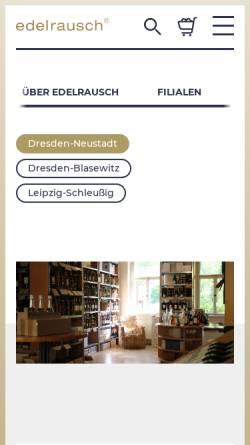Vorschau der mobilen Webseite www.edelrausch.de, Kühn