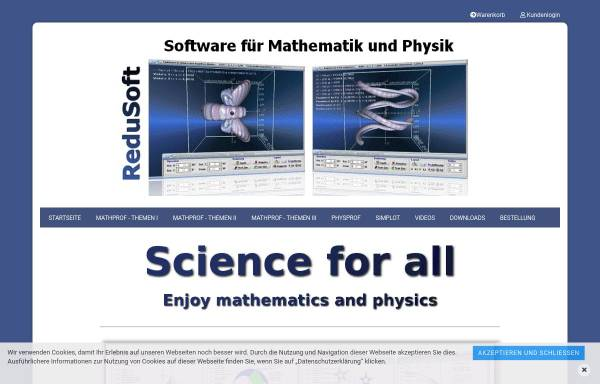 Vorschau von www.mathprof.de, Physik-Programm für Schüler, Studenten und Lehrer