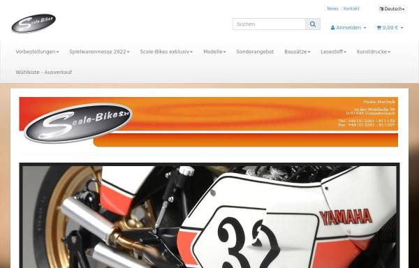 Vorschau von www.scale-bikes.de, Scale-Bikes ::: Exklusive Modellmotorräder und Zubehör