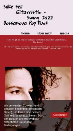 Vorschau der mobilen Webseite www.gitarristin.com, Gitarristin Silke Fell aus Berlin