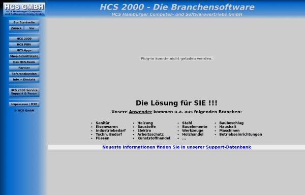 Vorschau von www.hcs2000.de, HCS GmbH