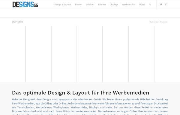 Vorschau von www.designs66.de, DESIGNS66